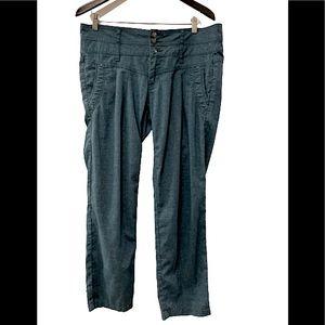 PrAna Blue 3 Button Pleated Pants
